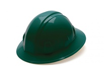 Pyramex HP26135 Green-Full Brim 6 Pt Ratchet Suspension