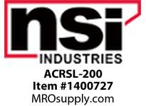 NSI ACRSL-200 LONG BARREL ALUM COMPRESSION SPLICE 1/0
