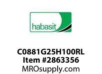 "Habasit C0881G25H100RL 881-25T X 1"" Split Idler Sprocket"