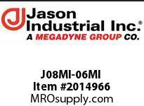 Jason J08MI-06MI ADAPTOR MALE JIC X MALE JIC