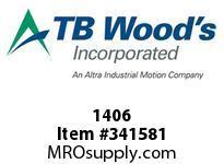 TBWOODS 1406 1406 3/4X1/2 REDUC BUSH