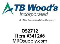 TBWOODS OS2712 OS27X1/2 FHP SHEAVE