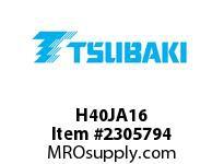 US Tsubaki H40JA16 HT Cross Reference H40JA16 QD SPROCKET HT