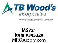 TBWOODS MS721 MS-72X1 VAR SHEAVE