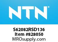 NTN S62082RSD136 Extra Small/Small Ball Bearing