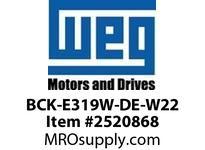 WEG BCK-E319W-DE-W22 W22 BRG CAP-319 BRG-DE-5MM Motores
