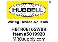 HBL_WDK HBTR0616SWBK WBPRFRM RADI 90 6Hx16W BLACKSTLWLL