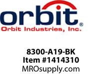 Orbit 8300-A19-BK 40^ A19 BOLLARD NOLAMP BLACK