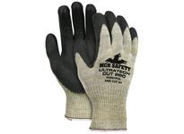 MCR 93891PUL UltraTech Cut Pro 10 Gauge Kevlar/Fiberglass/Stainless Steel Shell Black PU Dipped Palm/Fingers