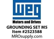 WEG GROUNDING SET M5 GROUNDING SET M5 SCREW+GROMMET Motores