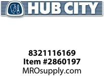 HUB CITY 8321116169 BEARING BALL 6204ZZ OR EQ Service Part