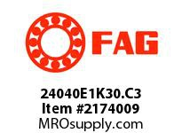 FAG 24040E1K30.C3 DOUBLE ROW SPHERICAL ROLLER BEARING