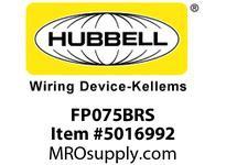 HBL_WDK FP075BRS 3/4^ FF PLUG BRASS