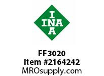 INA FF3020 Flat needle cage assembly