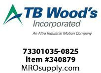 TBWOODS 73301035-0825 73301035-0825 10S T-SF CPLG