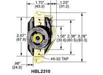 HBL-WDK HBL2330SR2 LKG S/SHRD RCPT L7-20R 2G SURF MT GY