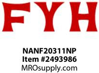 FYH NANF20311NP 11/16 ND LC 4B FLANGE UNIT-NICKLE PLATE