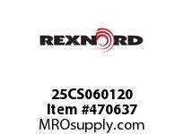REXNORD 138621 25CS060120 25CS 3/16-NOX3/8-NO