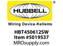 HBL_WDK HBT450612SW WBPRFRM RADI 45 6Hx12WPREGALVSTLWLL