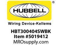 HBL_WDK HBT300404SWBK WBPRFRM RADI 30 4Hx4W BLACKSTLWLL
