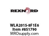 REXNORD WLA2015-8F1E6 WLA2015-8 F1 T6P WLA2015 8 INCH WIDE MATTOP CHAIN WI