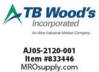 TBWOODS AJ05-2120-001 HUB AJ05 .4744/.4736KL SSM6