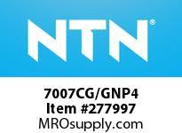 NTN 7007CG/GNP4 PRECISION BALL BRG