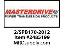 MasterDrive 2/SPB170-2012 2 GROOVE SPB SHEAVE