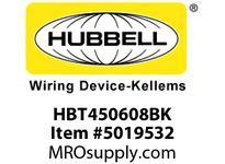 HBL_WDK HBT450608BK WBPREFORM RADI 45 6^Hx8^W BLACK