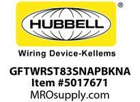 HBL_WDK GFTWRST83SNAPBKNA 20A COM ST TRWR HG SNAP GFR USA BLACK