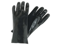 MCR 6212S Black PVC Non-Slip Finish Interlock Lined 12