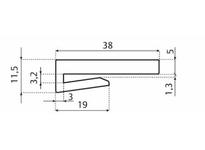 System Plast VG-J150-125-10 VG-J150-125-10 EXTRUDED GUIDE