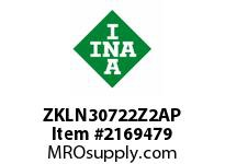 INA ZKLN30722Z2AP Ball screw support bearing