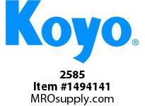 Koyo Bearing 2585 TAPERED ROLLER BEARING
