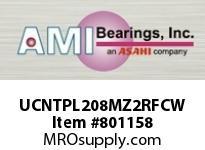 AMI UCNTPL208MZ2RFCW 40MM ZINC SET SCREW RF WHITE TAKE-U COVERS SINGLE ROW BALL BEARING