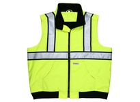 MCR BWCL2LXL Body Warmer Class 2 Poly w/ Soft Inner Lining Fluorescent Lime Zipper Front