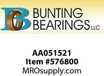 BUNTING AA051521 7/16 X 9/16 X 3/8 SAE841 Std Plain Bearing