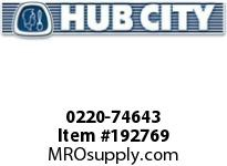HUBCITY 0220-74643 120M 1/1 B SP 8^ BEVEL GEAR DRIVE