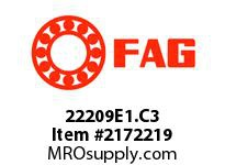 FAG 22209E1.C3 DOUBLE ROW SPHERICAL ROLLER BEARING