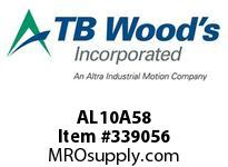 TBWOODS AL10A58 AL10-AX5/8 FF COUP HUB