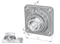 INA TCJ80 Four-bolt flanged unit