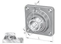INA TCJ80 Four-bolt flanged unit