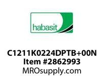 "Habasit C1211K0224DPTB+00N 1211 2"" Pitch Knuckle HT Dark Gray Nylon"