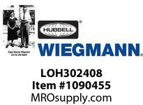 WIEGMANN LOH302408 LOHLIFT-OFFHCN3RCS30X24X8