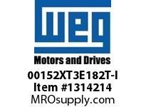 WEG 00152XT3E182T-I 1.5HP 1200 3 60 208-230/460 XP - Nema Pr