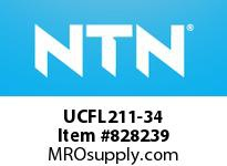NTN UCFL211-34 Oval flanged bearing unit