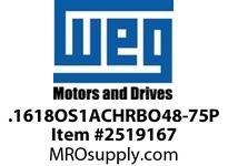WEG .1618OS1ACHRBO48-75P 1/6HP 1800 1/60/115V 75PP AUTO Nema 56 ODP