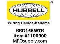 HBL-WDK RRD15KWTR RCPT DUP DEC TR 15A125VNO EARS WH