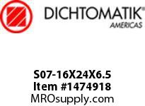 Dichtomatik S07-16X24X6.5 ROD SEAL NBR/NBR IMPREGNATED FABRIC/POM ROD SEAL WITH AE RING METRIC