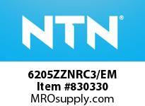 NTN 6205ZZNRC3/EM SMALL SIZE BALL BRG
